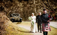 Caig Falls wedding in Lochaber