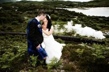 Jacobite Steam Train wedding Photograph