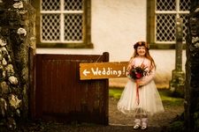 Flower Girl at Croick Church